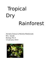 tropical dry rainforest pictures.docx