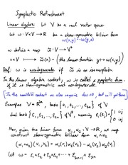 Lecture on Symplectic Linear Algebra