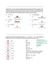 Test #1 Solutions
