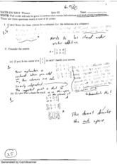 Linear Algebra Quiz 3