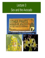 BPSC 021 2017 Lecture 3 Sex & the single avocado