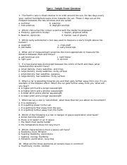 Space - Sample Exam Questions (Student Book) (1).doc