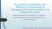 AIS P3- Accounting for Flexibility and Efficiency