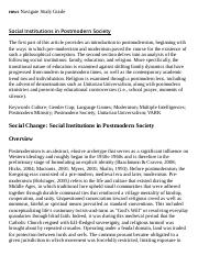 Social Institutions in Postmodern Society Research Paper Starter - eNotes.pdf
