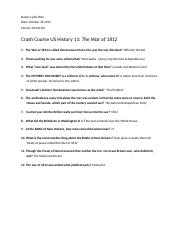 Crash Course US History 11: The War of 1812.docx