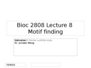 lect 08 motif finding