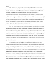 Infusion essay