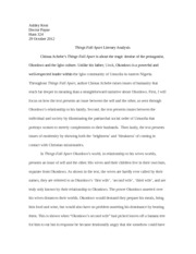 Essay On Pollution In English  Pages Things Fall Apart Literary Analysis Topic For English Essay also Synthesis Essay Topics Things Fall Apartpost Colonialism And Globalization Essay  Yu  Essay Thesis Statements