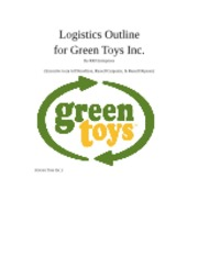 Logistics Outline final--Green Toys