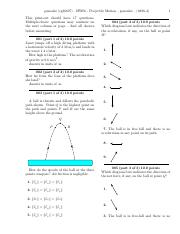 HW06 - Projectile Motion-problems