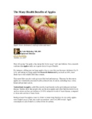CPAP 3625 The Many Health Benefits of Apples