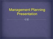 REV MGT 230 Week 3 Individual Assignment Management Planning Presentation Revision