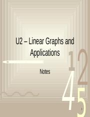 Notes,  - Linear Graphs and Applications_Day1