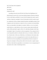 New York Times article assignment.docx