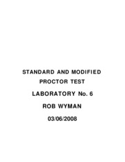 STANDARD AND MODIFIED PROCTOR TEST