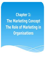 NEW Chapter 1 - The Marketing Concept(1)
