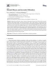 Mental Illness and Juvenile Offenders.pdf