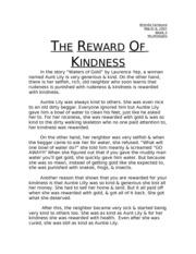 short essay on kindness