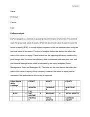Accounting  work (Analysis)