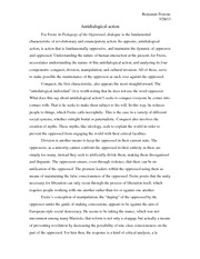 Contemporary Social Theory - Antidialogical Action Essay