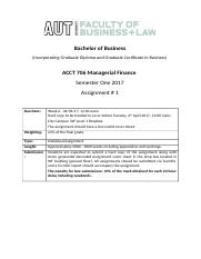 ACCT706 Managerial Finance_S1 2017_Assignment 1 (1)