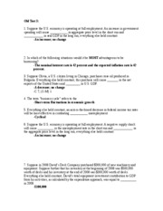 Econ 2030 old test study guide #3