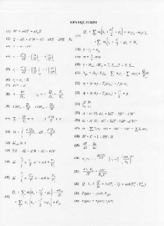 Thermodynamics - key equations