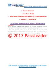 2017 PassLeader 70-486 Dumps with VCE and PDF (Question 1 - Question 30)