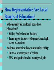 8How Representative Are Local Boards of Education.ppt