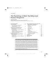 Ricciardi V. (N.D.) The Phsychology of Risk:The Behavioural Finance Perspective.pdf