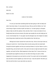 Lit and Society Letters to Tom - Paper