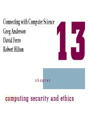 Chapter13_Computing Security & Ethics