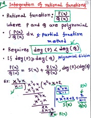 MATH 1251 Integration of Rational Functions Notes