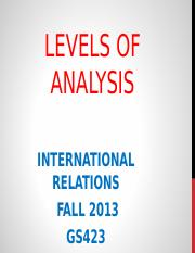 Level of Analysis.ppt