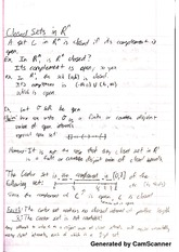Introduction to Real Analysis - Closed Sets and Sequences Notes