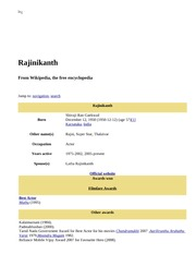 Rajinikanth - Wikipedia, the free encyclopedia