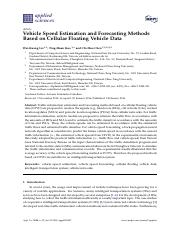 Vehicle Speed Estimation and Forecasting Methods Based on Cellular Floating Vehicle Data
