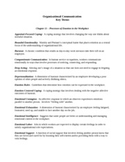 Organizational Communication chapter 11 key terms