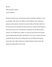 Reflection Paper Week 4