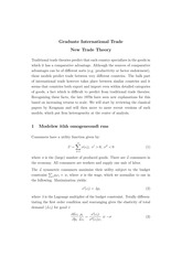 Lecture 3 - New trade models