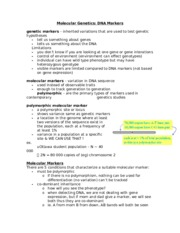 BIO2133 Notes for Final Exam - 2013