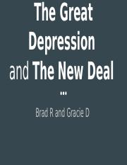 New Deal/Great Depression