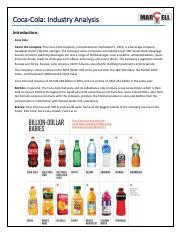 Industry Analysis_Coca-Cola