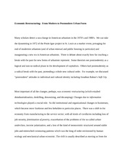 Economic Restructuring Essay
