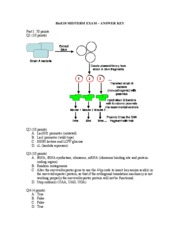 Bioengineering  10 - Fall 2009 - MT1 - Conboy - Solution