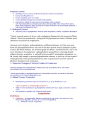 Physical and Biological Control Notes