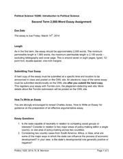Term 2 Essay Assignment