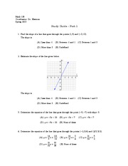 Math 116 Exam 3 Study Guide