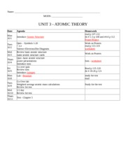 Packet Unit 3_Atomic Structure-answers