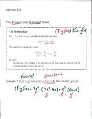 Product and Quotient Lecture notes